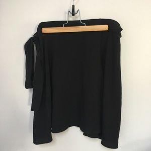 American Apparel Skirts - Black American Apparel Wrap Skirt